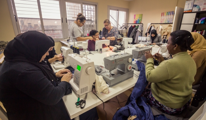 Taller de costura de Mujeres Pa'lante Font: Mujeres Pa'lante
