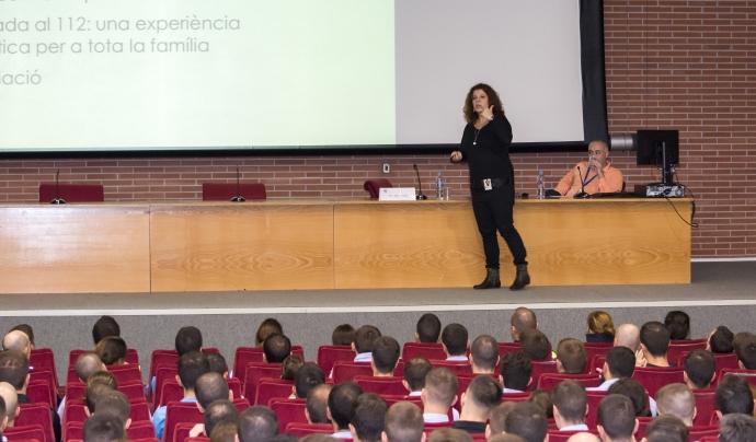 Formació que vam fer a l'Escola de Policia de Catalunya Font: Associació de familiars de malalts mentals de Catalunya