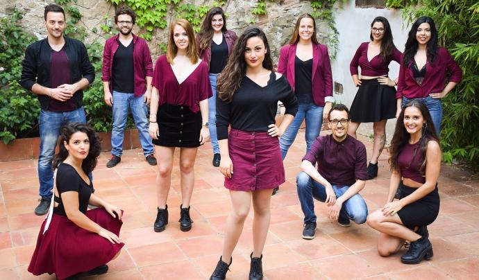 A Grup Vocal i l'espectacle OCTUBRE. Cançons per la llibertat
