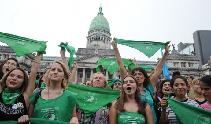 La revolució verda argentina per la legalització de l'avortament lliure Font: Lucha de clases