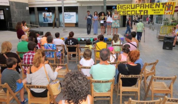 Acte de difusió a Blanes / Font: Lleure cap a Grècia