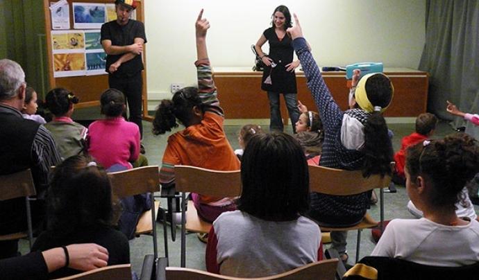 Activitat de prevenció amb infants per part de la Fundació Vicki Bernadet. Font: Fundació Vicki Bernadet.