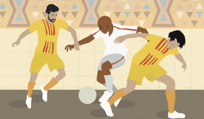 """El documental """"Adama"""" és un projecte de l'agència DigitalNomad sobre els viatges solidaris a Africa del club de futbol amateur català A.E Ramassà Font: DigitalNomad"""