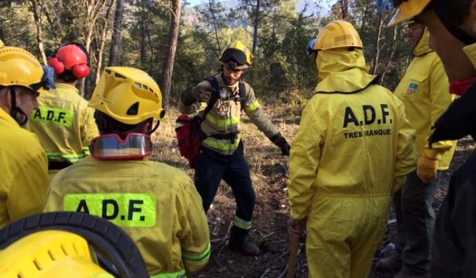 La formació és vital de cara a participar a les tasques d'extinció d'incendis. Font: ADF Els Cingles