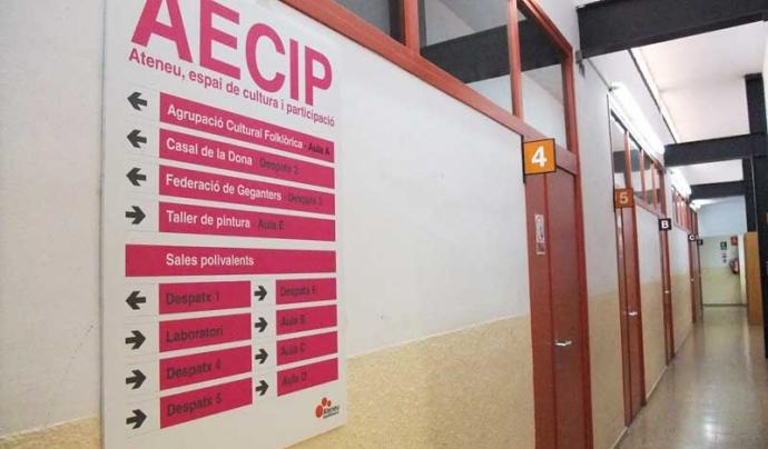 Ateneu, espai de cultura i participació (AECIP), a l'Ateneu Santfeliuenc.