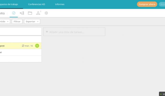 Amb RedBooth es poden gestionar les tasques d'una forma molt senzilla i efectiva