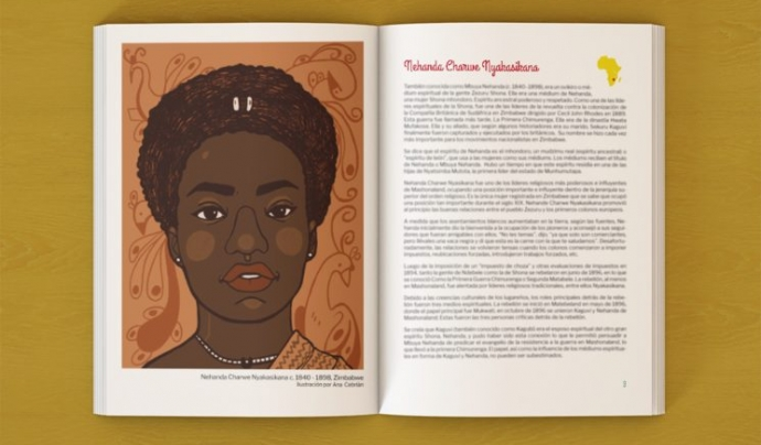 Interior llibre 'African-meninas' Font: Club Wanafrica