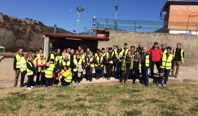 Visita guiada a l'estació de Tractament d'Aigua Potable (ETAP) Mas de les Aigües de la Comunitat Minera Olesana. (imatge (c,olesana)