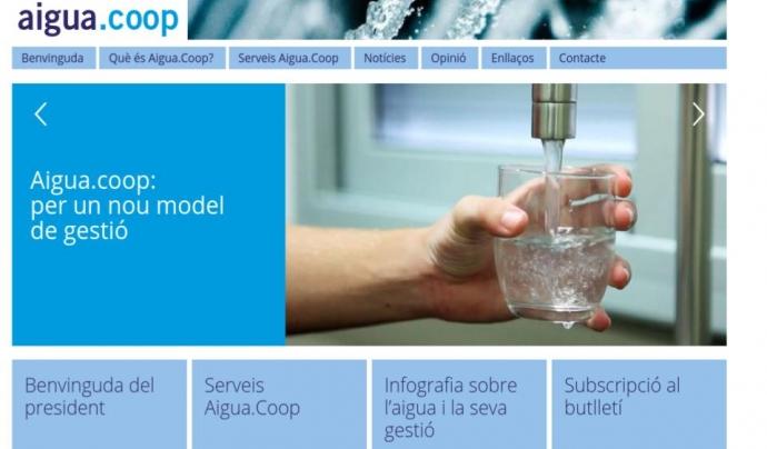 El portal aigua.coop ha estat creat per a aportar informació i assesorament per a la creació de cooperatives per la gestió de l'aigua (imatge. aigua.coop)