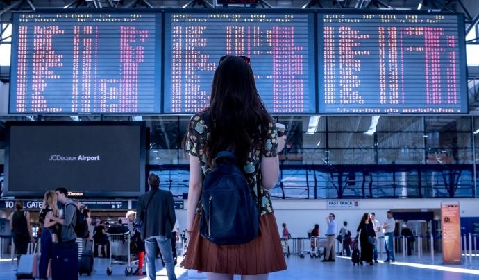 Nombrosos catalans no poden tornar a casa per la cancel·lació de vols. Font: CC
