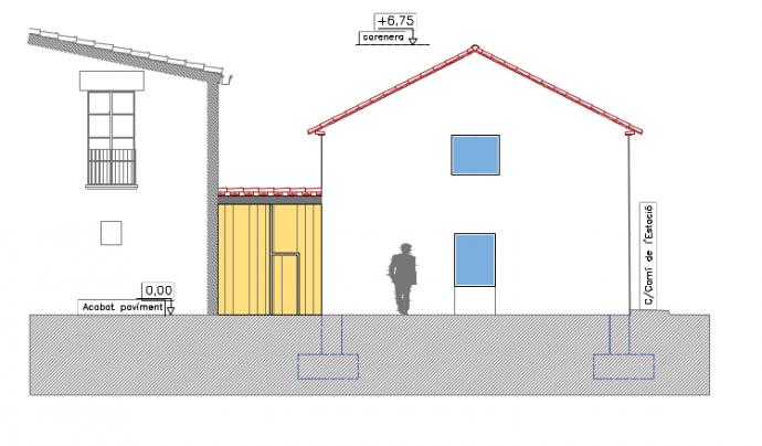 L'edifici comptarà amb l'espai d'obrador, una sala polivalent i una botiga. Font: Avantva