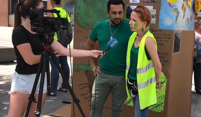 Alex Ovejero i Laura Valcarce, dos dels membres de l'entitat. Font: Marea Verda Sant Adrià del Besòs