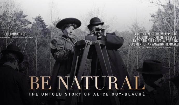 """""""Be natural"""" ('sigues natural') és l'epigrama que presidia la Solax Company, els estudis de cinema que la cineasta Alice Guy va fundar als Estats Units Font: Imdb"""