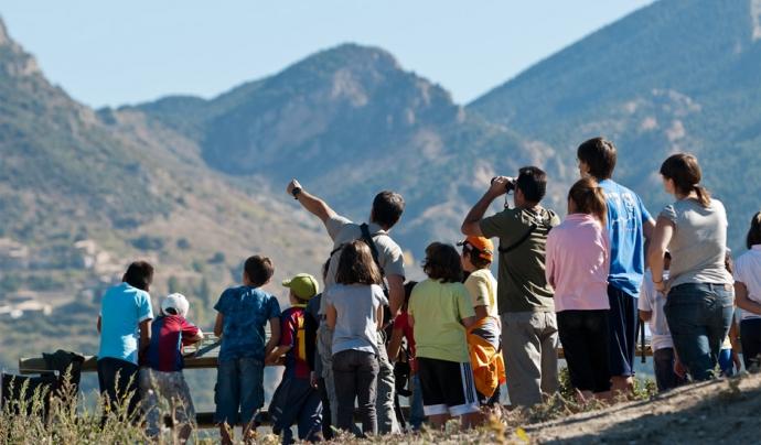 Es pot participar al programa de voluntariat ambiental o gaudir de les activitats guiades a la muntanya d'Alinyà (imatge: FundacioCatalunya-LaPedrera)