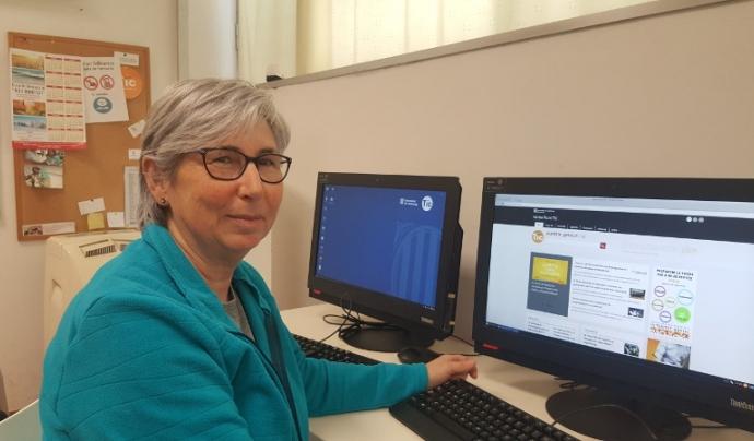 L'Àngels viu en primera persona els beneficis del voluntariat Font: Punt TIC de Palau-solità i Plegamans