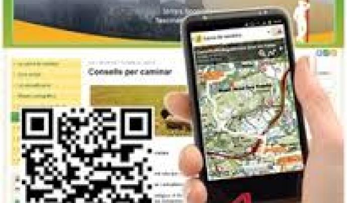 La xarxa de  senders del Ripollès, la Garrotxa i l'Alt Empordà és la base de l'app Itinerannia (imatge:itinerannia)