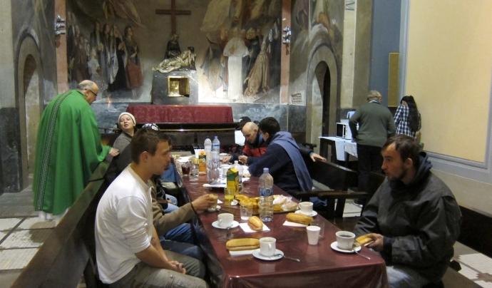 L'església ofereix descans i cafè a les persones sense llar (Font: Carles Ribas)