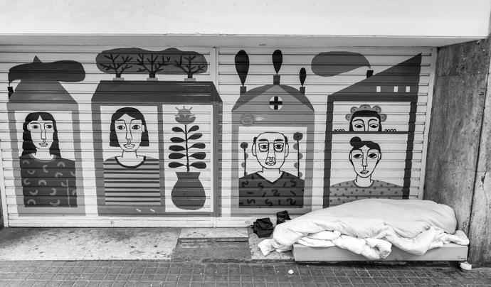 El sensellarisme és el tema central de l'exposició d'Arrels Fundació. Font: Juan Lemus