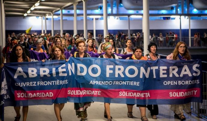 Acte de protesta Obrim Fronteres Font: Obrim Fronteres