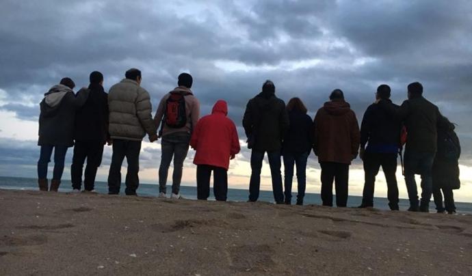 Grup de participants en una de les vacances organitzades per Aspanias.   Font: Aspanias