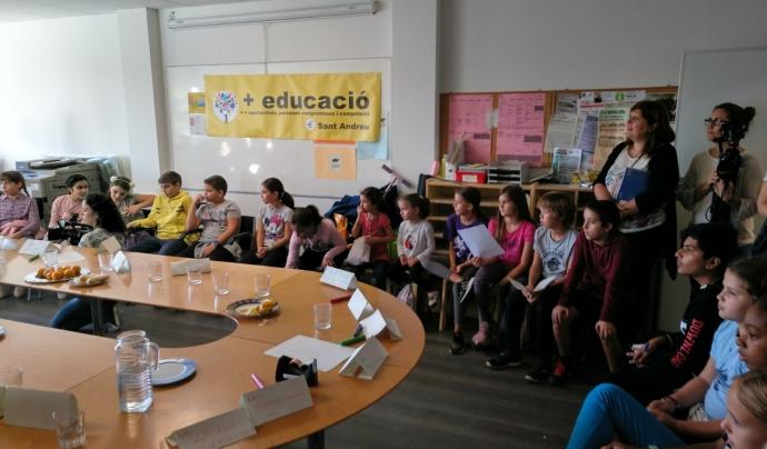 Assemblea d'infants en el marc d'un projecte de la cooperativa +Educació. Font: Cooperativa +Educació