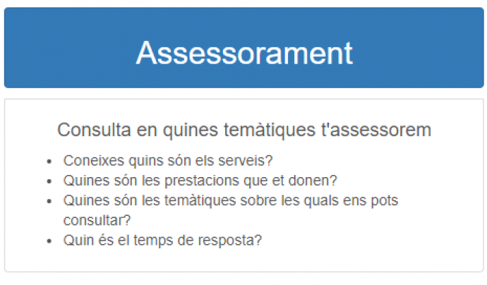 Servies assessorament