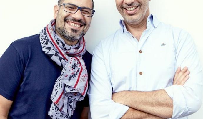 Yotam Ottolenghi i Sami Tamim, cuiners de l'albergínia Fetteh. Font: CookForSyria