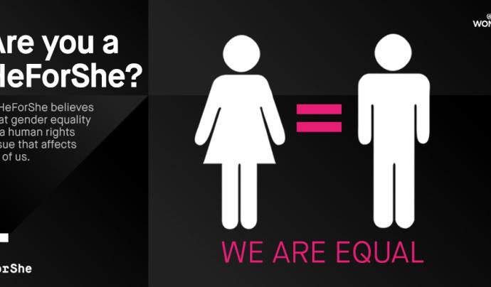 Creativitat del programa #HeForShe Font: #HeForShe