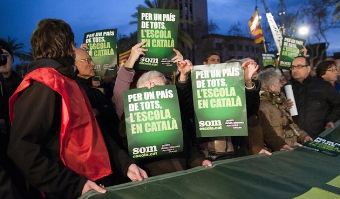 El català és una llengua minoritzada. Omnium Cultural. Llicència d'ús CC BY-ND 2.0 Font: Omnium Cultural. Llicència d'ús CC BY-ND 2.0