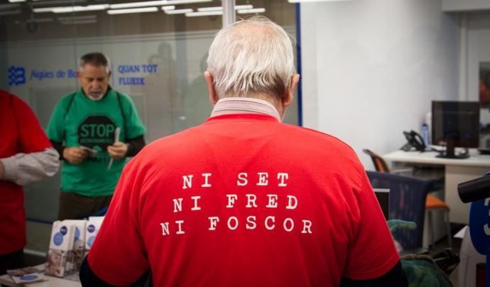 Acció de la PAH contra la pobresa energètica. Font: Sergi Pujolar, Flickr