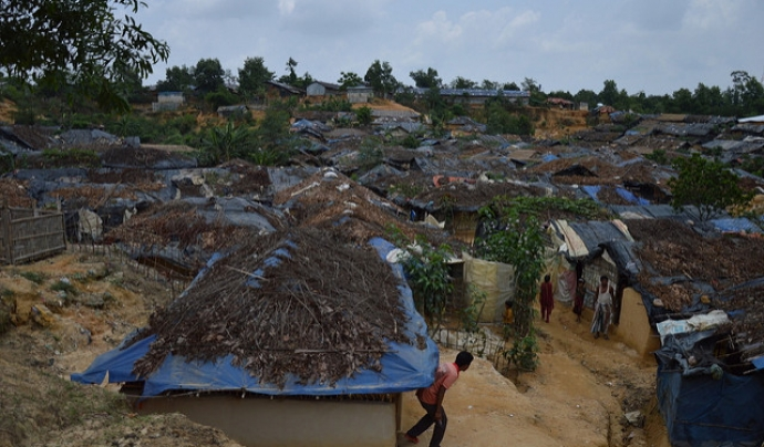 Poblat rohingya a Bangladesh.  Font: European Comission DG, Flickr