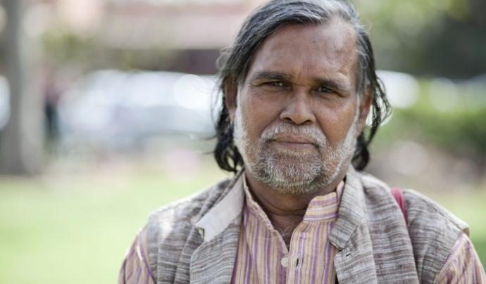 Prafulla Samantara va decidir representar la tribu indígena Dongria Kondh de l'est de l'Índia Font: Premi Goldman