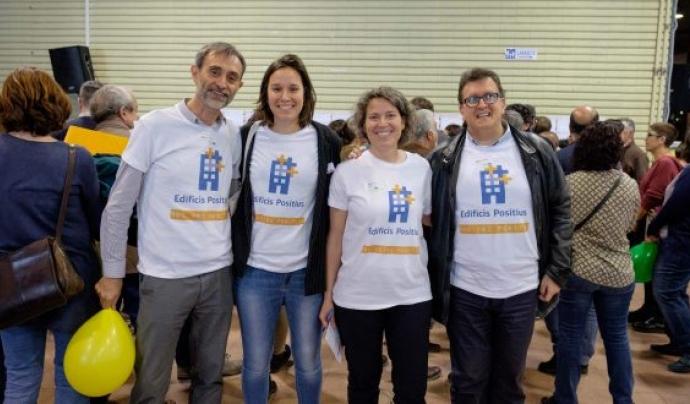 Equip creador de la iniciativa 'Edificis Positius'. Font: Aracoop
