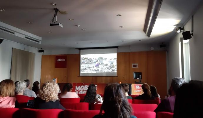 """Projecció del documental """"Projecte mòbil"""" al Mobile Social Congress Font: Colectic"""