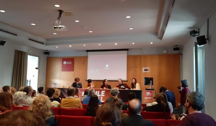 Fotografia del panell del Mobile Social Congress Font: Colectic