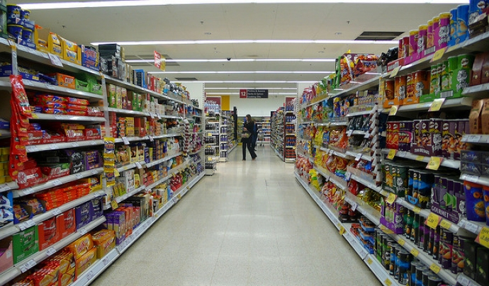 El passadís d'un supermercat