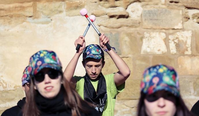 Actuació musical a la cinquena edició del 'Posa't la Gorra!' a Lleida. Font: AFANOC