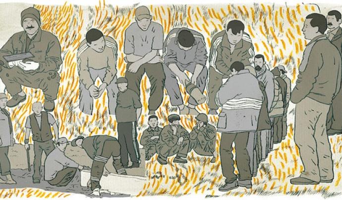 La majoria de les persones nouvingudes venen a Catalunya per trobar un món millor. Il·lustració de masha krasnova-shabaeva. Llicència d'ús CC BY-NC-ND 2.0 Font: Il·lustració de masha krasnova-shabaeva. Llicència d'ús CC BY-NC-ND 2.0