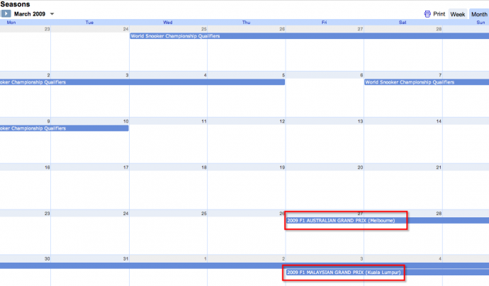 Google Calendar Font: Tony Hirst