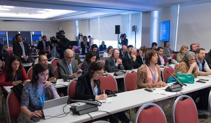 Les rodes de premsa són efectives en una crisi de comunicació. Imatge de ITU Pictures. Llicència d'ús CC BY 2.0 Font: ITU Pictures. Llicència d'ús CC BY 2.0