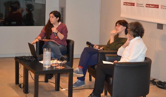 Mireia Garrido participant a la presentació del monogràfic 'Voluntariat i discapacitat'. Font: FCVS