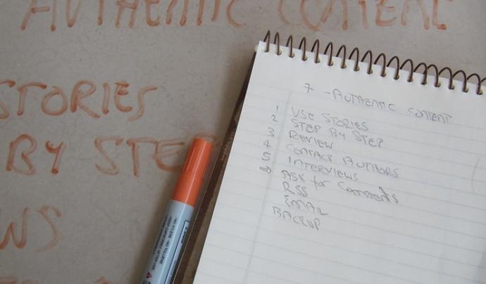 Amb Calculist també podreu crear índexs pel futurs continguts del vostre blog.  Font: Imatge de l'usuari Flickr Klariti. Llicència d'ús CC BY 2.0