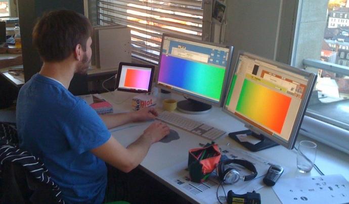 Una de les novetats de l'Inkscape és la possibilitat de treballar amb pantalles de gran format.  Imatge de laurent bolli. Llicència d'ús CC BY-NC-ND 2.0 Font:  Imatge de laurent bolli. Llicència d'ús CC BY-NC-ND 2.0
