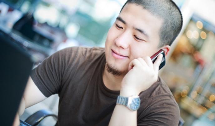 Els sistemes de reconeixement de veu s'utilitzen també en els telèfons mòbils. Imatge de Filip Pticek. Llicència d'ús CC BY 2.0 Font: Imatge de Filip Pticek. Llicència d'ús CC BY 2.0