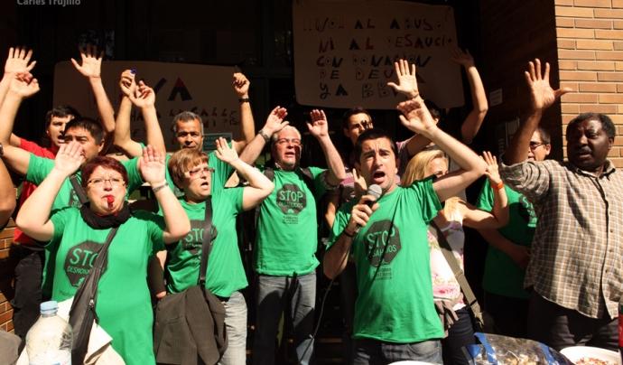 Membres de la Plataforma d'Afectats per la Hipoteca. Font: Carles Trujillo, Flickr