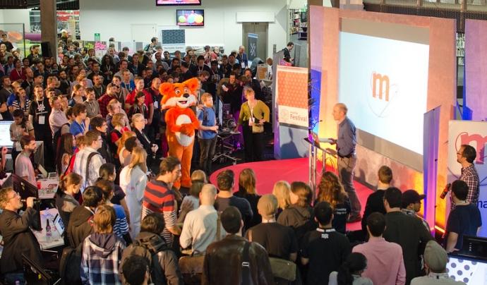 En el Mozilla Festival 2019 hi havia una recepció. En la del 2021 serà virtual.  Imatge de Mozilla Europe. Llicència d'ús CC BY 2.0 Font: Mozilla Europe. Llicència d'ús CC BY 2.0