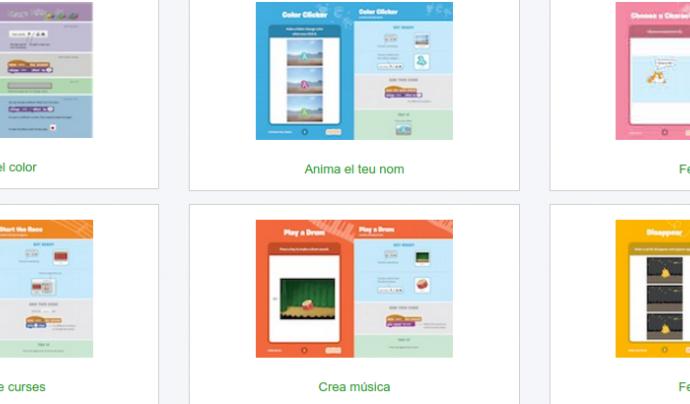 Captura de pantalla de la web de Code Club