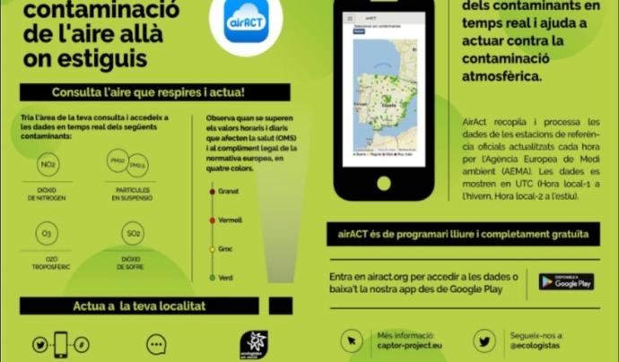 L'app també forma part d'una campanya per informar sobre les dades de contaminació i els efectes dels contaminats, per tal de convidar acada persona a sumar-se a les demandes d'entitats i col·lectius científics per la presa de mesures en l'administració.