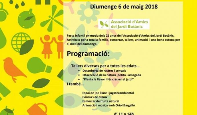 Diumenge 6 de maig se celebra una Festa al Jardí, un dels actes commemoratius del 25 aniversari de l'Associació