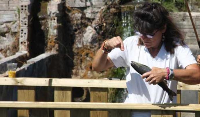 Anna Nebot és una propietària amb un acord de custòdia per la conservació de la natura i la biodiversitat Font: Aigua Natura